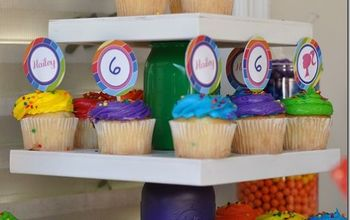 mason jar cupcake stand colorful, crafts, mason jars, repurposing upcycling