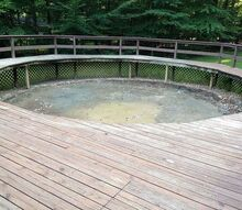 q backyard ideas pool removal space uses, decks, outdoor living