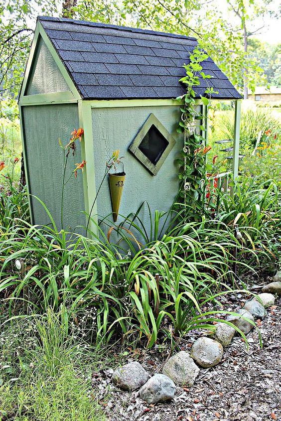 garden ideas playhouse summer, gardening, landscape, outdoor living