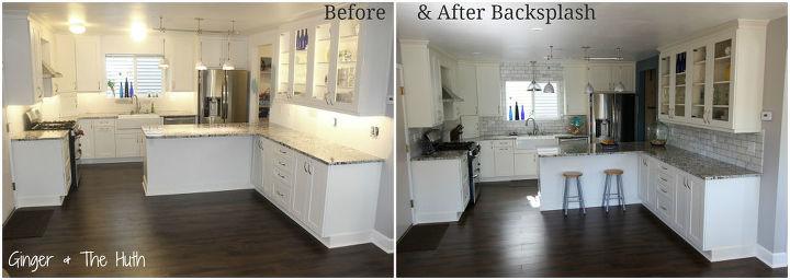 diy hampton carrara polished kitchen backsplash, diy, kitchen backsplash, kitchen design, tiling