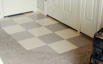 Painting a Ceramic Tile Floor ~ A Tale of Adventure and Woe