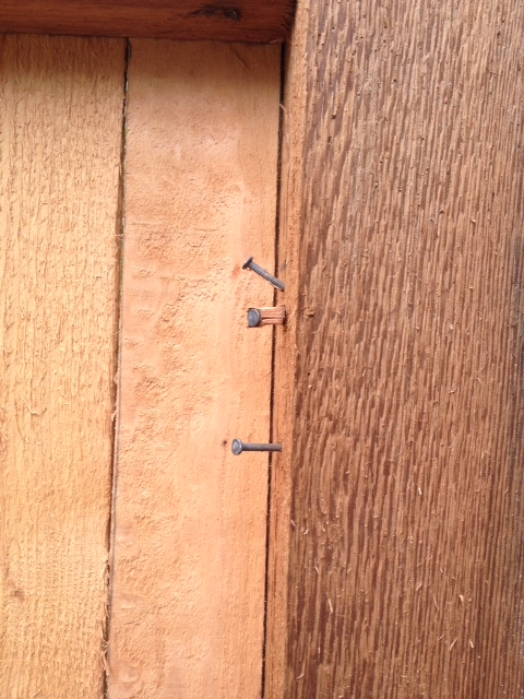 woodworking correcting poorly installed fence, fences, home maintenance repairs, how to, woodworking projects, Nails left when rails moved