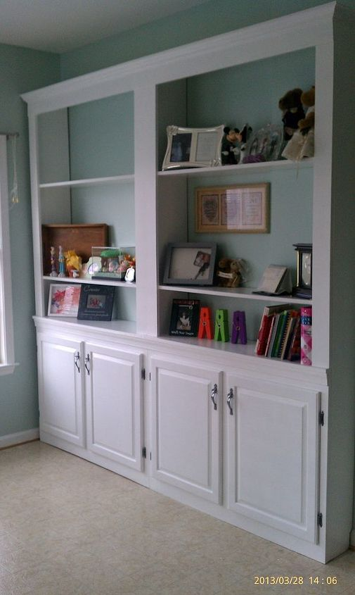 upcycle reuse furniture built in shelves, painted furniture, repurposing upcycling, shelving ideas
