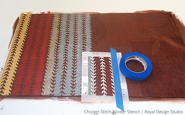 diy stenciled door mat chicken tracks, crafts, flooring