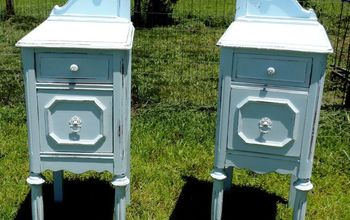 A Before and After Story: Upcycled Antique Vanity Nightstands