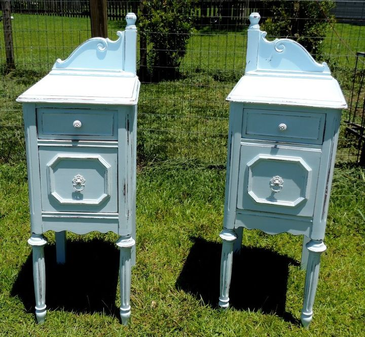 painted furniture upcycled antique vanity nightstands, painted furniture - Painted Upcycled Antique Vanity Nightstands Hometalk