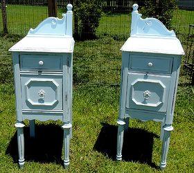 Vintage Nightstands Part - 45: Painted Furniture Upcycled Antique Vanity Nightstands, Painted Furniture