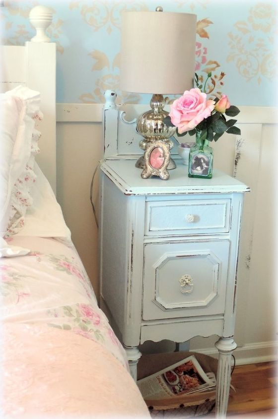 painted furniture upcycled antique vanity nightstands, painted furniture
