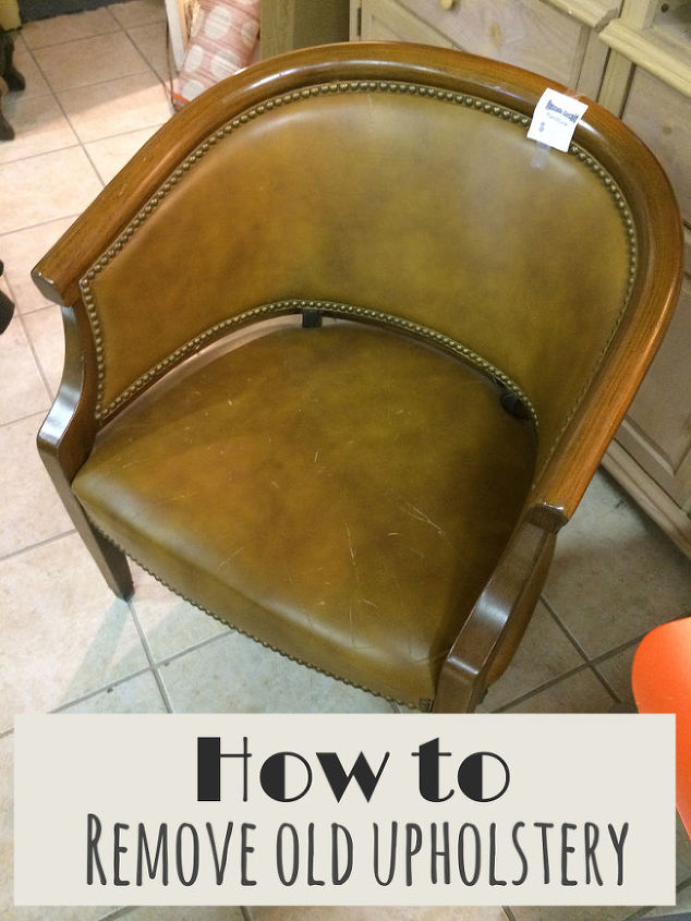 how to upholstery remove old yourself, painted furniture, reupholster