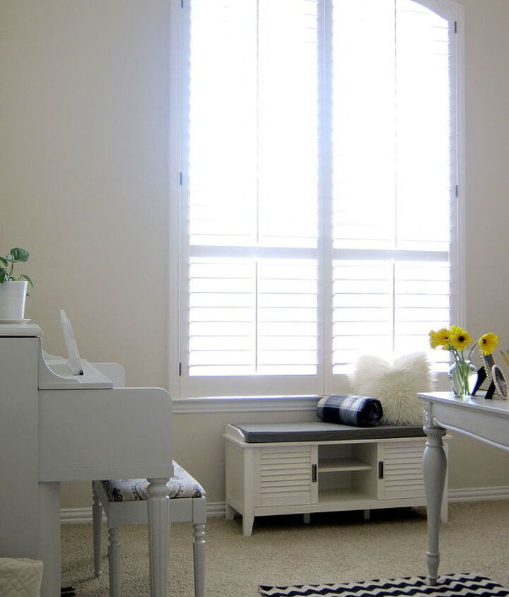 shabby chic office makeover white bright, home decor, home office, shabby chic