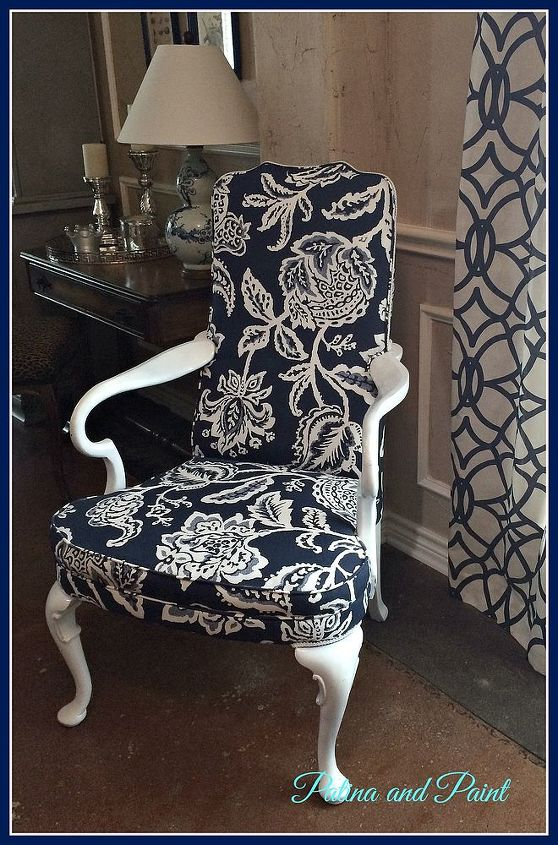 reupholstering chairs vintage makeover, painted furniture, reupholster