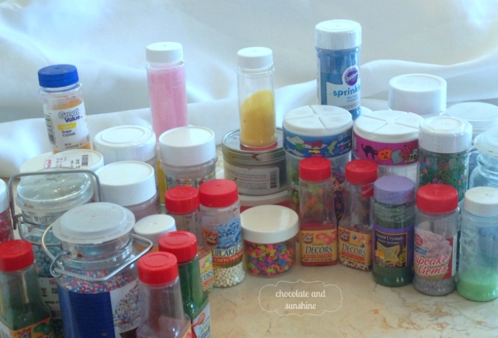 mason jars kitchen storage sprinkles, mason jars, organizing, Sprinkle Container Mess