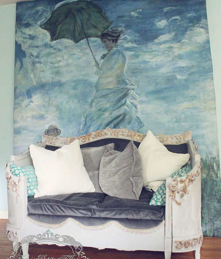 headboard upcycle daybed french thrifted