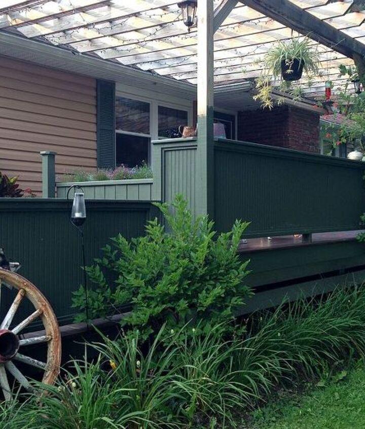 patio front porch rebuild renovation, container gardening, decks, flowers, gardening, porches