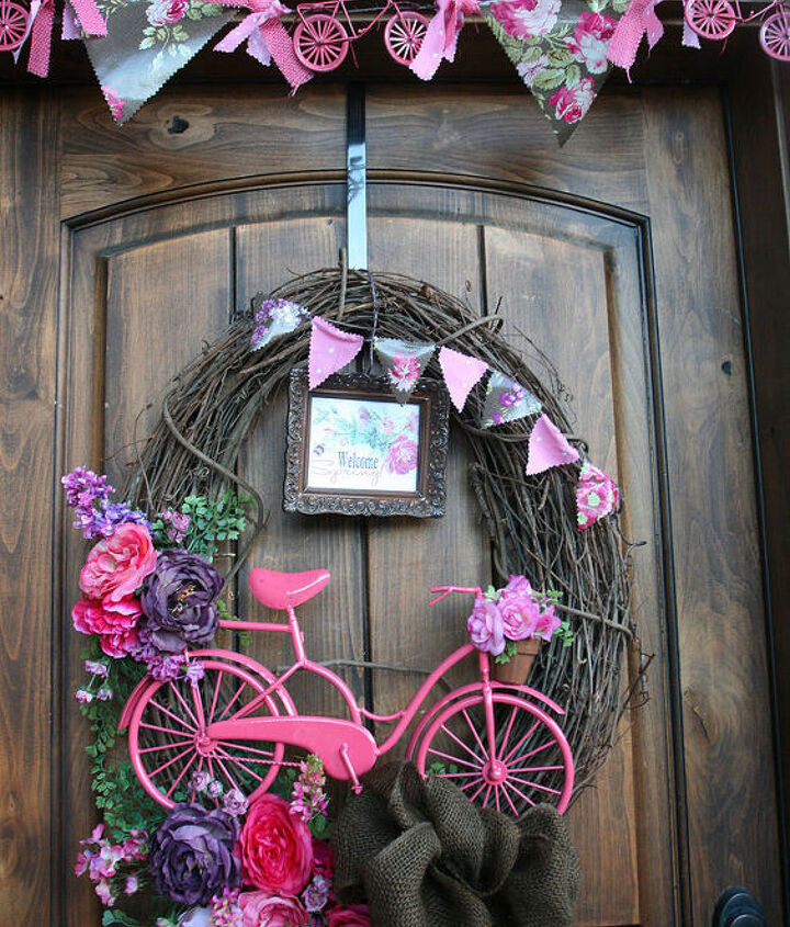 garden ideas bike flower planter, flowers, gardening, repurposing upcycling