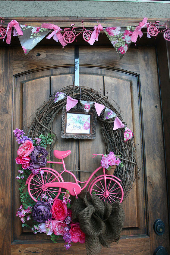 garden ideas bike flower planter, flowers, gardening, repurposing upcycling