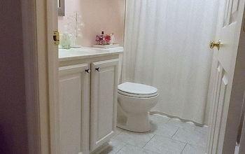 diy grouted vinyl floor, bathroom ideas, diy, flooring, small bathroom ideas