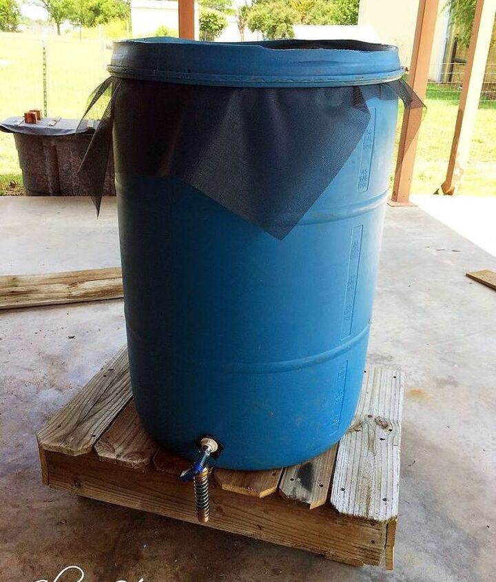 rain barrel air conditioner condensation solution, diy, hvac, repurposing upcycling