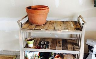 say hello to me perry potting table, painted furniture, repurposing upcycling