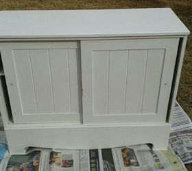 Vintage Handmade Cabinet Rescued And Modernized Just A Little, Painted  Furniture, It Was All