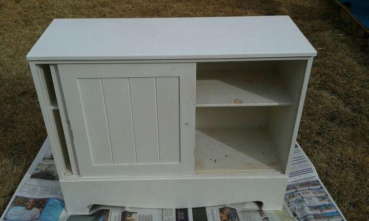 One shelf and sliding doors