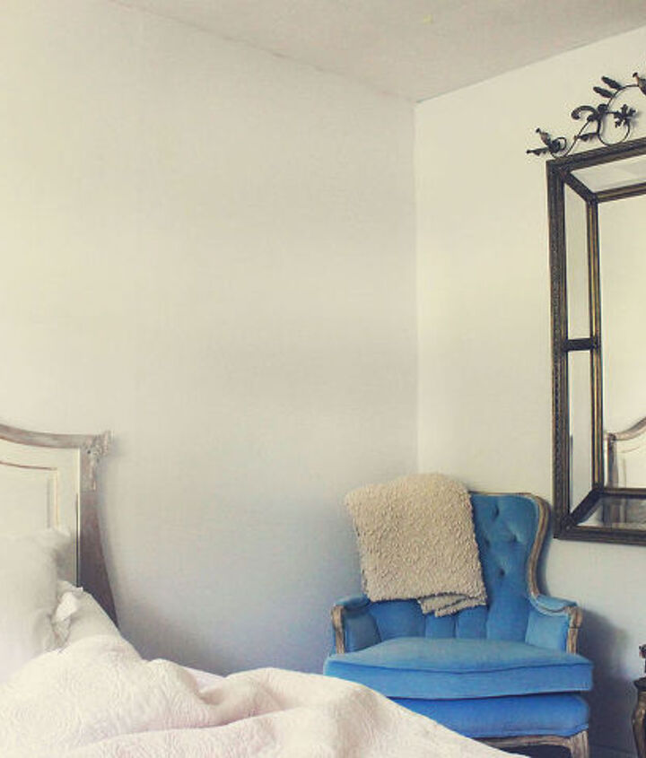 old crib to french country head board, bedroom ideas, painted furniture, repurposing upcycling