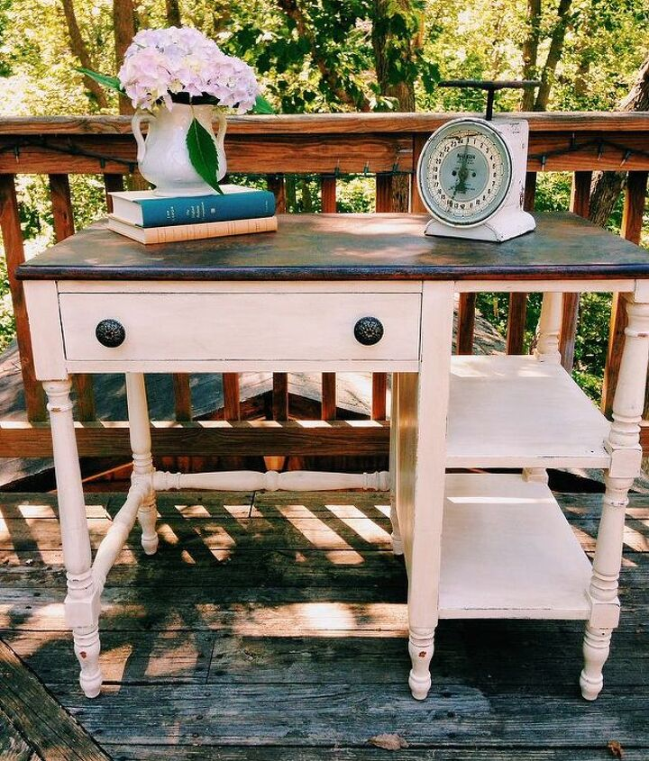 painted furniture desk white wood, painted furniture