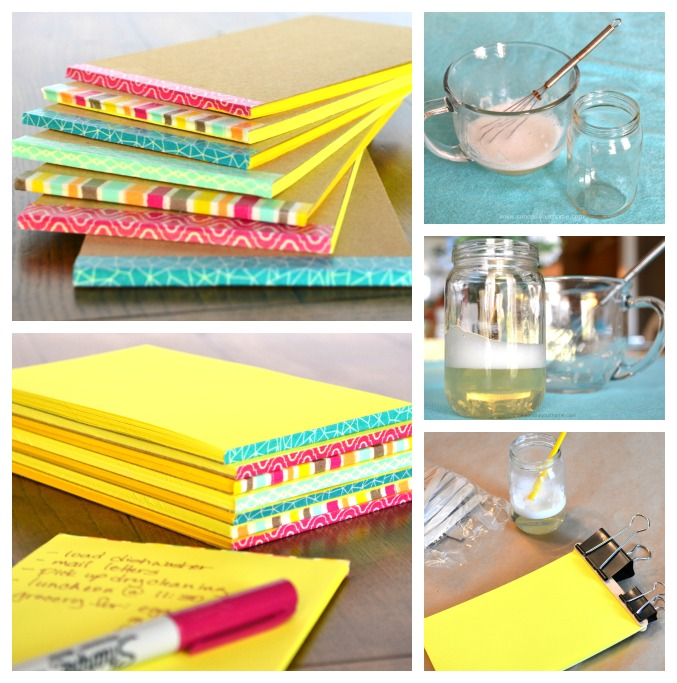 diy note pads and pen holder, crafts