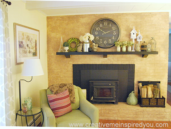 Update an Outdated Brick Fireplace | Hometalk