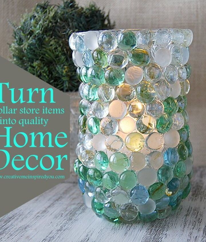 crafts vase dollar store glass beads, crafts, repurposing upcycling