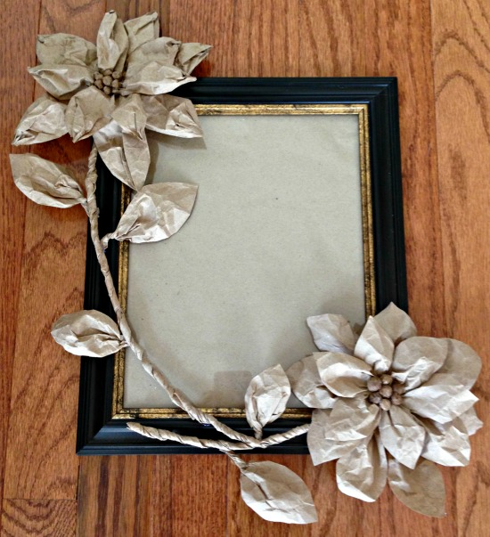 Brown Paper Flowers to Decorate Frame | Hometalk