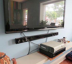 Hide your tv Hidden Easy Peasy Hide Your Tv Cables And Wires Diy Remodelaholic Easy Peasy Hide Your Tv Cables And Wires Hometalk