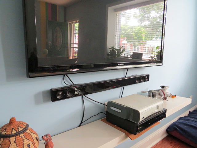 easy peasy hide your tv cables and wires hometalk. Black Bedroom Furniture Sets. Home Design Ideas