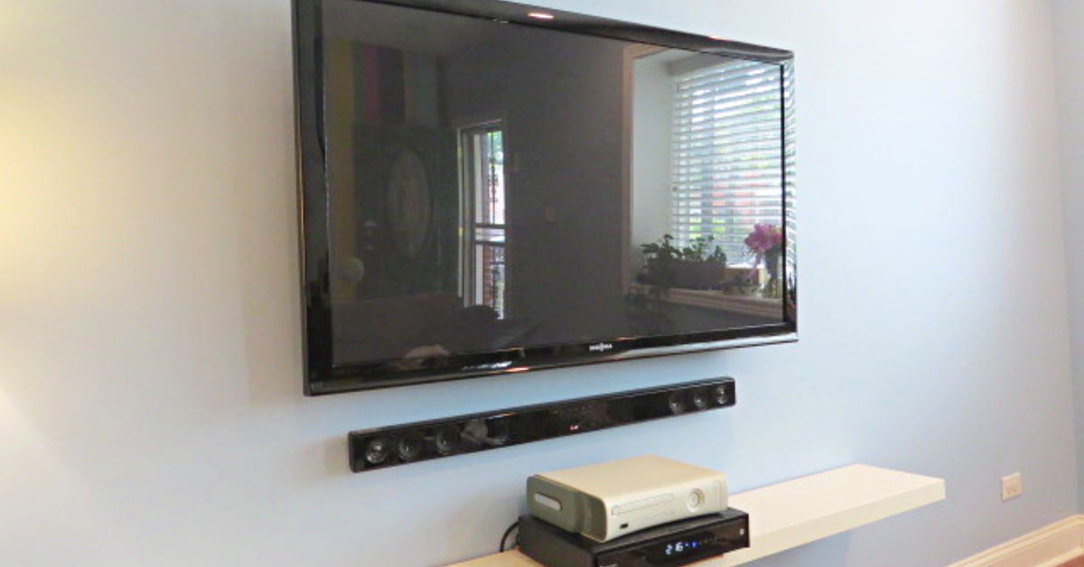 Easy peasy hide your tv cables and wires hometalk - How to mask cables ingenious solutions ...