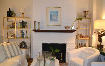 Painted Brick Fireplace - The Nuclear Option