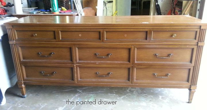 gold painted furniturePainting Wood Dresser to Black  Gold Glam  Hometalk
