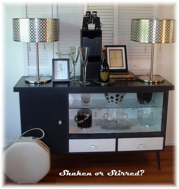 painted furniture mid century retro makeover, home decor, living room ideas, painted furniture