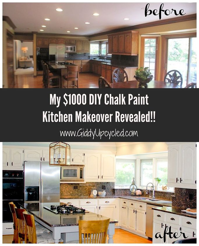 DIY Chalk Paint Kitchen Cabinet Makeover | Hometalk on kitchen cabinets for small kitchens, yellow kitchen paint color ideas, kitchen cabinet paint color palette, kitchen color scheme, kitchen backsplash ideas with white cabinets, country kitchen wall color ideas, kitchen color combination idea, modern kitchen color ideas, small kitchen color ideas, kitchen colors for small kitchens, kitchen coffee decor curtains, kitchen cabinets and wall color,