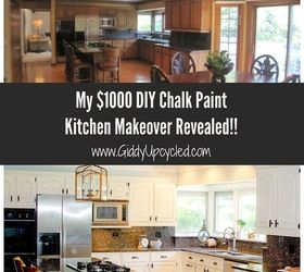 Kitchen Cabinets Chalk Paint Makeover, Dining Room Ideas, Kitchen Cabinets,  Kitchen Design,
