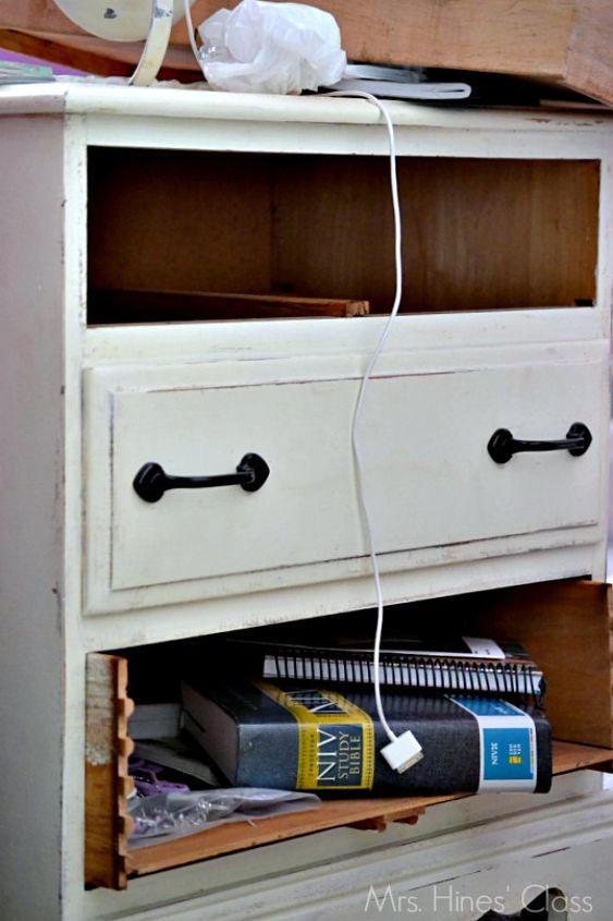 painted furniture mirrored nightstand refinish, painted furniture