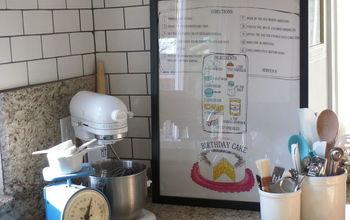 Framing a Tea Towel for Kitchen Art