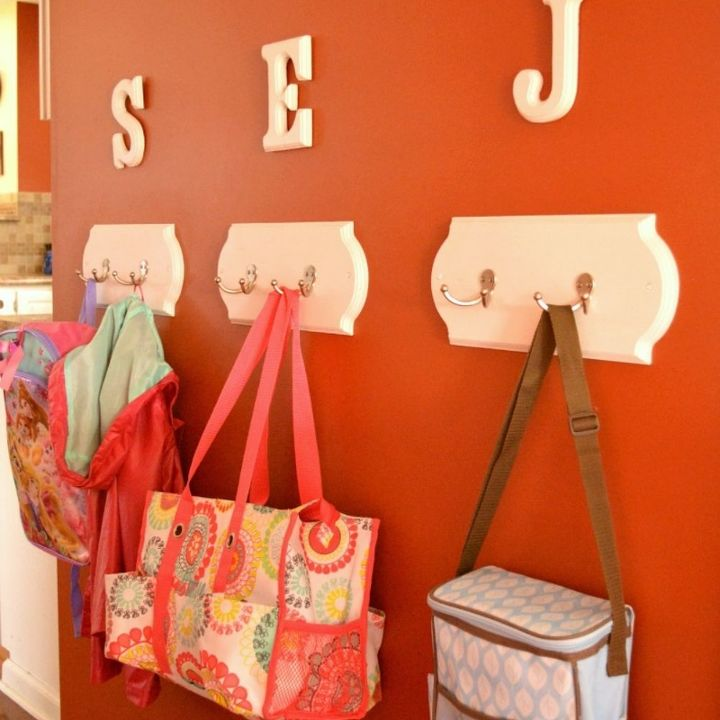 diy coat racks, foyer, organizing, shelving ideas, wall decor