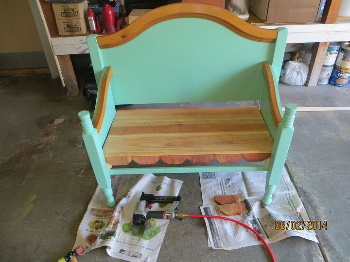 Bench Made From Old Bed Frame