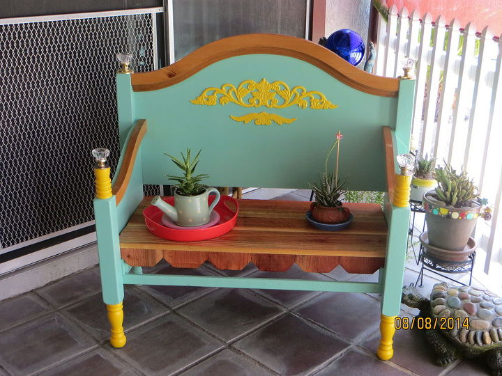 Bench Made From Old Bed Frame Hometalk