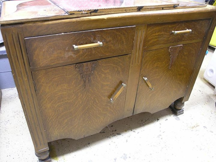 painted furniture sideboard thrift salvage, painted furniture