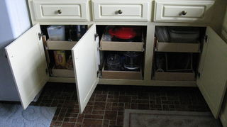q kitchen design ideas strange layout help, doors, kitchen design, After you almost get to the end of the redo you will probably want to seriously consider putting in those sliding shelves under your cabinets because trust me you will love em