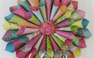 diy wreath scrapbooking paper, crafts