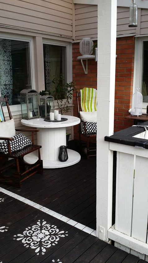 patio ideas front porch redo, outdoor furniture, outdoor living, porches, repurposing upcycling