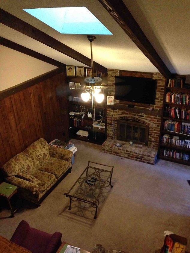 Ideas For Outdated Living Room Paneling Hometalk