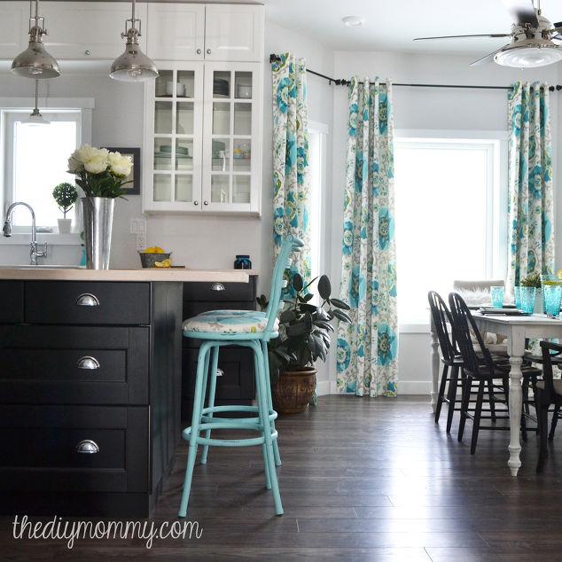 Lora S Vintage Style Kitchen Makeover: Colorful Vintage Industrial Kitchen